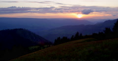 Time-lapse of sunset over over Hells Canyon from Graves Point Stock Footage