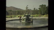 1974: a fountain is seen INDIA Stock Footage