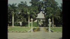1974: outdoor gardens INDIA Stock Footage