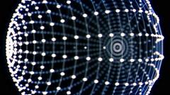 Rotating Dots Sphere Vj Loop Stock Footage