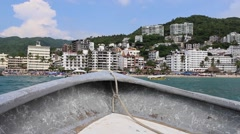 Boat View of Puerto Vallarta MX Stock Footage