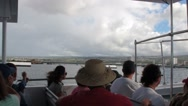 Tourists on the Transport Boat to the USS Arizona Memoria, Pearl Harbor Stock Footage