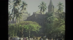 1974: a castle is seen from a car INDIA Stock Footage