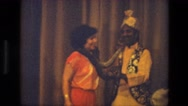 1974: an act with snake is seen INDIA Stock Footage