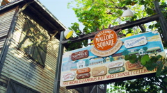 Key West Florida Mallory Town Square Signs 5K HD Stock Footage