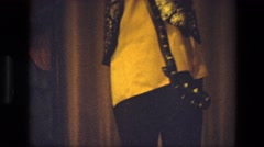 1974: a man is seen with a snake INDIA Stock Footage