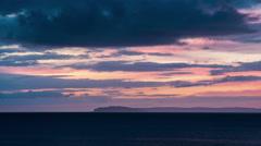 Beautiful sunrise Canada, Nova Scotia Stock Footage