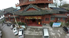 Drone China Lijiang Traditional Building Stock Footage