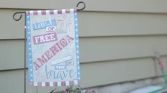 America land of the free banner Stock Footage