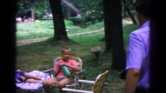 1963: a family is seen going on a trip with a small child COLD SPRINGS, NEW YORK Stock Footage