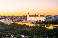 Bratislava castle in capital city of Slovak republic Stock Photos