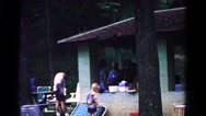 1963: family having fun and dad taking care of the kid near him COLD SPRINGS Stock Footage