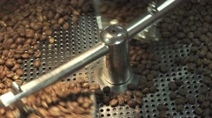 Roasting and mixing coffee at third wave cafe shop Stock Footage