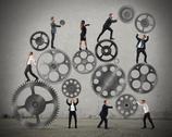 Teamwork of businesspeople Stock Photos