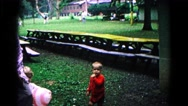 1963: playtime in a park COLD SPRINGS, NEW YORK Stock Footage