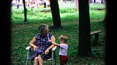 1963: a forest area is seen COLD SPRINGS, NEW YORK Stock Footage