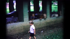 1963: a boy and his ball COLD SPRINGS, NEW YORK Stock Footage