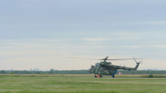 Helicopter Mil-171 taxiing before take-off Stock Footage