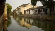 City with water  China Stock Footage