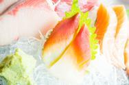Raw fresh sashimi Stock Photos