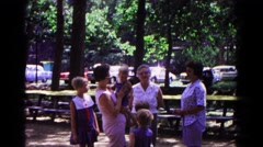 1963: in the park me and my family were having a great time  Stock Footage