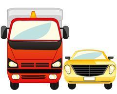 Cargo and passenger car Stock Illustration