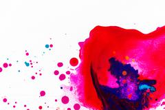 Color Splatter On White Background Stock Photos