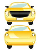 Car type frontal and behind Stock Illustration