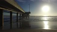 Venice Fishing Pier, Marina del Rey, California during sunset Stock Footage