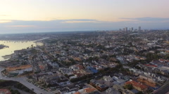 Newport Beach Skyline & Neighborhood Stock Footage