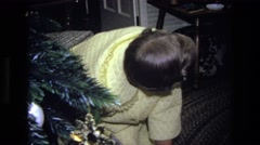 1975: christmas gift opening CALIFORNIA Stock Footage