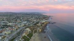Little Corona State Beach, Corona Del Mar, Southern California Stock Footage