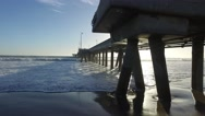Venice Fishing Pier, Marina del Rey, California during sunset Stock Footage