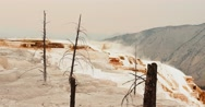 Mammoth Hot Springs, Yellowstone National Park: Weird Alien Landscape 5 Stock Footage