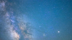 Astro Time Lapse of Milky Way Fading over Sierra Nevada Mtns -Sky Only- Stock Footage