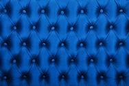 Blue capitone tufted fabric upholstery texture Stock Photos