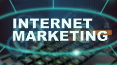 Internet marketing related words Stock Footage