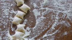 Potato Gnocchi In Flour Stock Footage