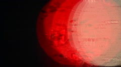 Abstract red and white light circles Stock Footage
