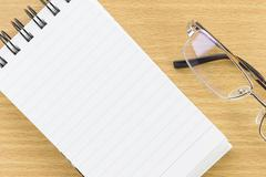 Notepad with blank page Stock Photos