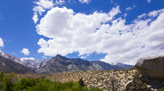 MoCo Pan Time Lapse of Alpine Mountain Range in Sierra Nevada -Long Shot- Stock Footage