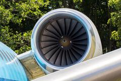 Engine of an airplane Stock Photos