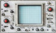Old oscilloscope, technical equipment Stock Photos