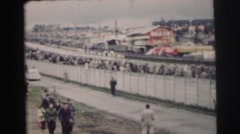 1955: berlin wall in the 1980's LE MANS GRAND PRIX, FRANCE Stock Footage
