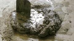 Preparation of concrete mortar Stock Footage