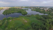 Recreation on the islands. aerial view Stock Footage