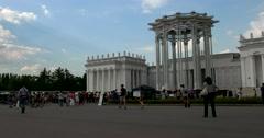 Beautiful pavilion in the national style of Uzbekistan, ENEA Stock Footage