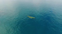 Chasing an Outrigger Canoe near Lahaina, Maui, Hawaii Stock Footage
