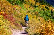 Hike in autumn season Stock Photos