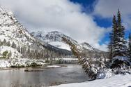 Winter in Glacier Park Stock Photos